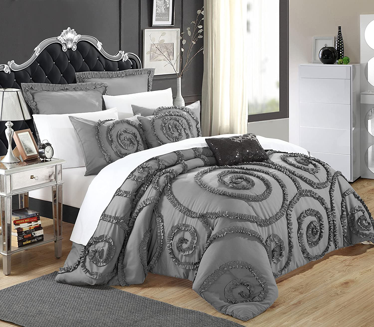 comforter at the white adrianna king barnett set available and gray