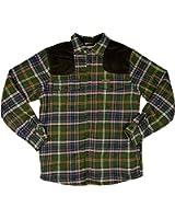 Field & Stream Mens Sherpa-Lined Flannel Shirt Jacket