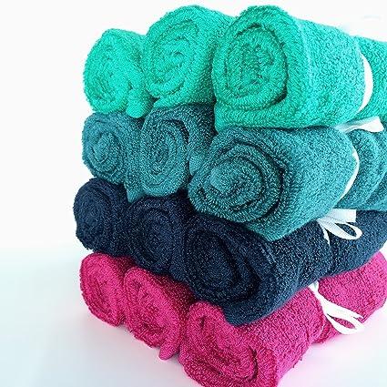 Acacia bebé 12 unidades de colores gamuza de bambú paños de toallitas para bebé y toallitas