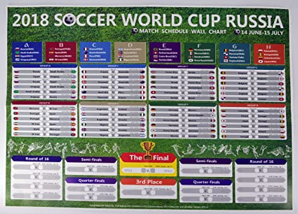 Amazon Cmlegend 2018 World Cup Russia Wall Chart Poster 225