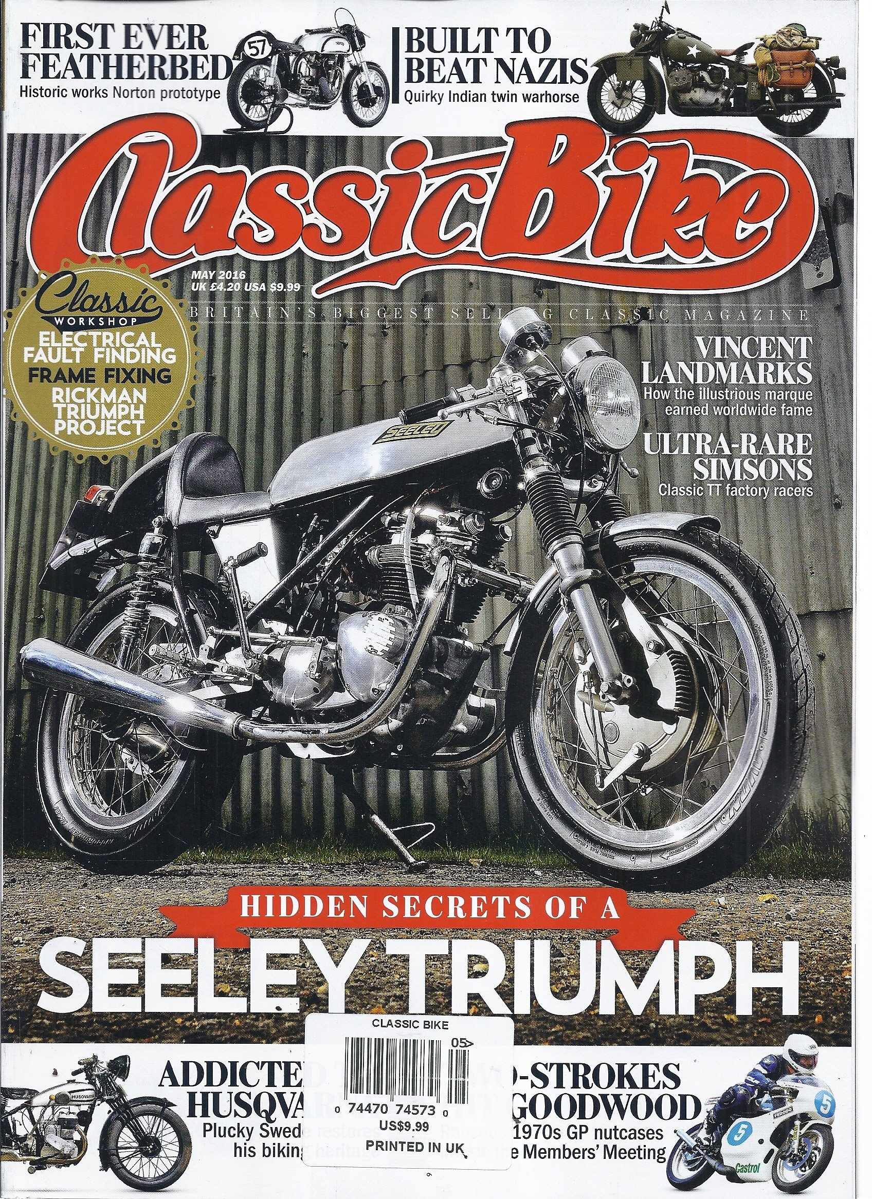 Read Online Classic Bike Magazine (May 2016 - Seeley Triumph) PDF