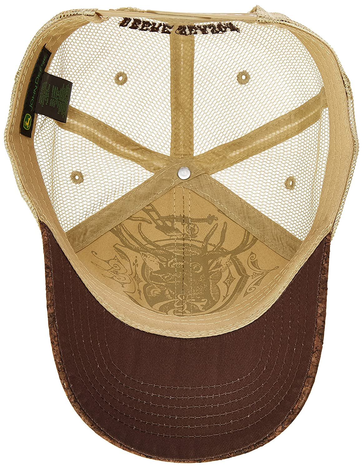 John Deere Tree BARK Trademark Cap at Amazon Mens Clothing store: Baseball Caps