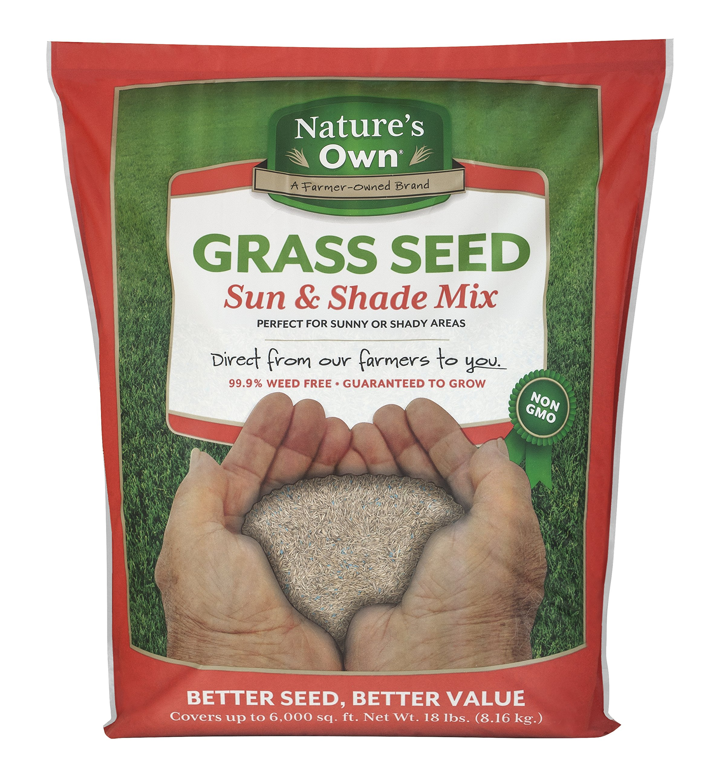 Mountain View Seeds Natures Own Sun & Shade Mix Grass Seed, 18-pounds by Mountain View Seed