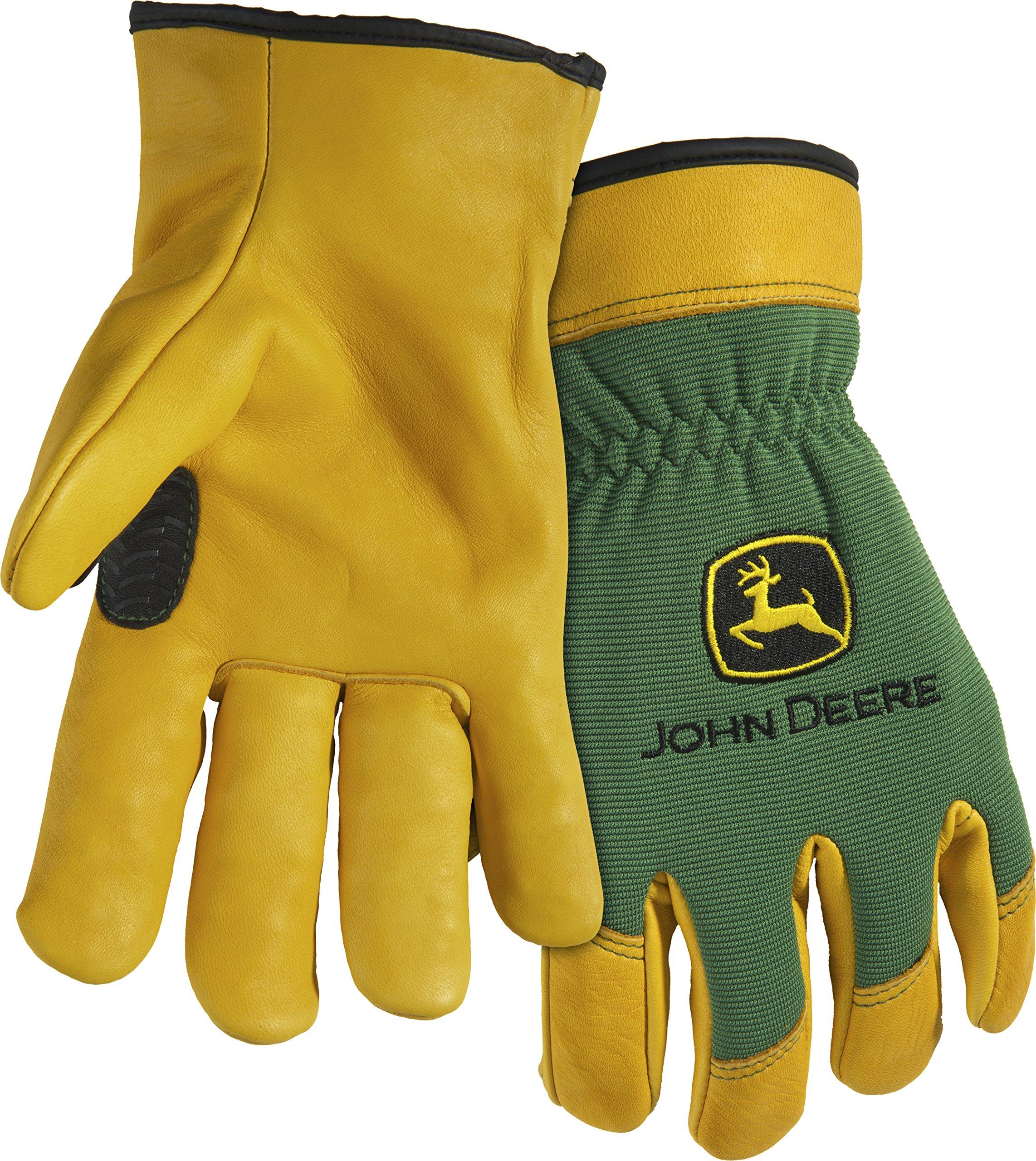 West Chester John Deere JD00008 Top Grain Deerskin Leather Driver Work Gloves: XX-Large, 1 Pair
