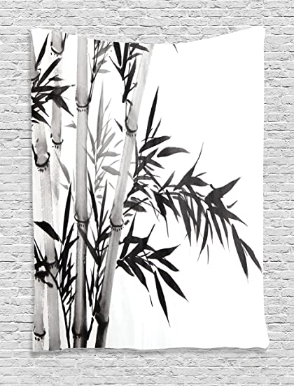 Amazon Com Ambesonne Bamboo Decor Tapestry Bamboo Tree
