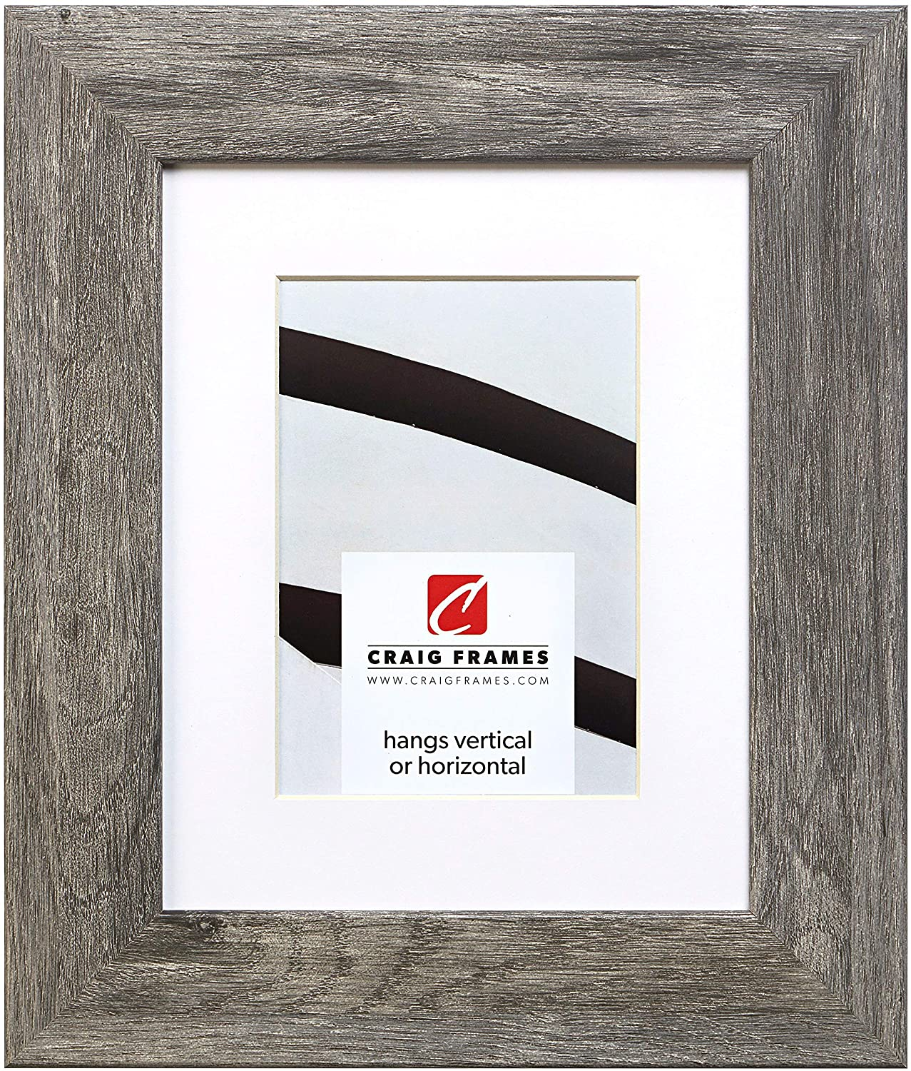 Craig Frames 74030 16 x 20 Inch Faux Gray Barnwood Picture Frame Matted to Display a 11 x 14 Inch Photo