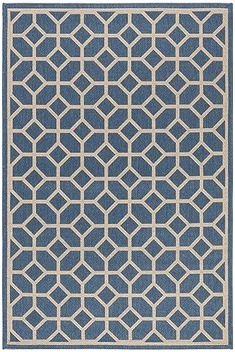 Safavieh Linden Collection Area Rug, 4 x 6 , Blue Cr me