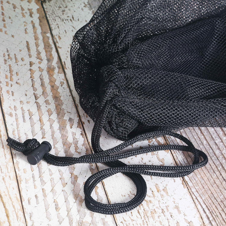 SKOLOO Thicken Drawstring Mesh Ball Bag Large Sports Ball Bags
