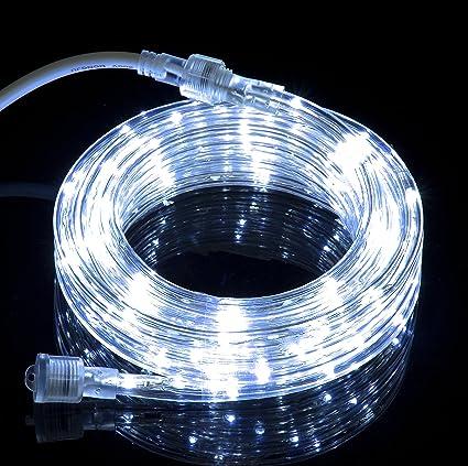 Izzy Creation 10.6FT Cool White LED Flexible Rope Lights Kit,  Indoor/Outdoor Lighting