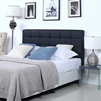 leather upholstered bed faux pin tiles mounted black adhesive self wall headboard