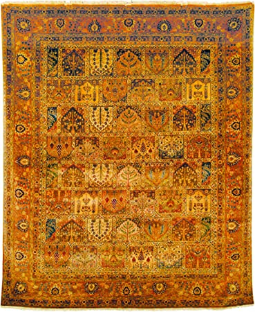 Amazon Com Safavieh Lavar Collection Lv40a Hand Knotted Traditional Premium Wool Area Rug 6 X 9 Assorted Rust Furniture Decor