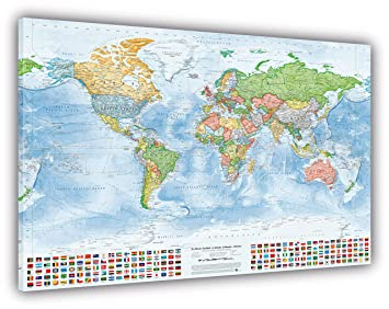 Political world map with flags size 150x100 cm canvas print political world map with flags size 150x100 cm canvas print english gumiabroncs Image collections