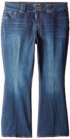 8e7a91df9aa Amazon.com  Lucky Brand Women s Petite Plus-Size Emma Bootcut Jean in  Grissom