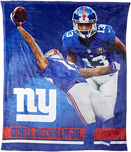 43e951db1aa6d The Northwest Company Officially Licensed NFL New York Giants Odell Beckham  Jr. Players HD Silk Touch Throw Blanket, 50