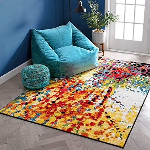 Well Woven Viva Partridge Modern Abstract Dots Multi Bright Area Rug 9'3″ x 12'6″