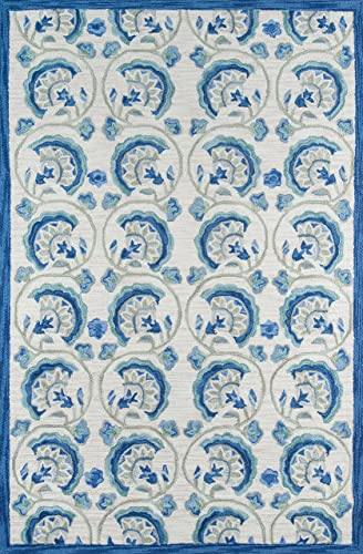 Momeni Rugs Summit Collection, Hand Knotted Transitional Area Rug, 8 x 10 , Blue