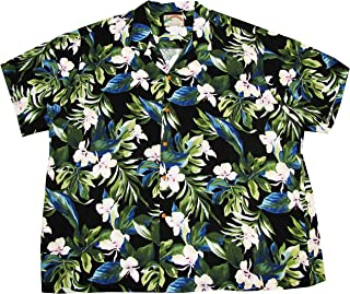 product image for Men's White Ginger Hawaiian Aloha Vintage Rayon Shirt in Black - S