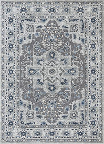 Safavieh Gypsy Shag Collection GYP522C Rust and Blue Area Rug 9 x 12
