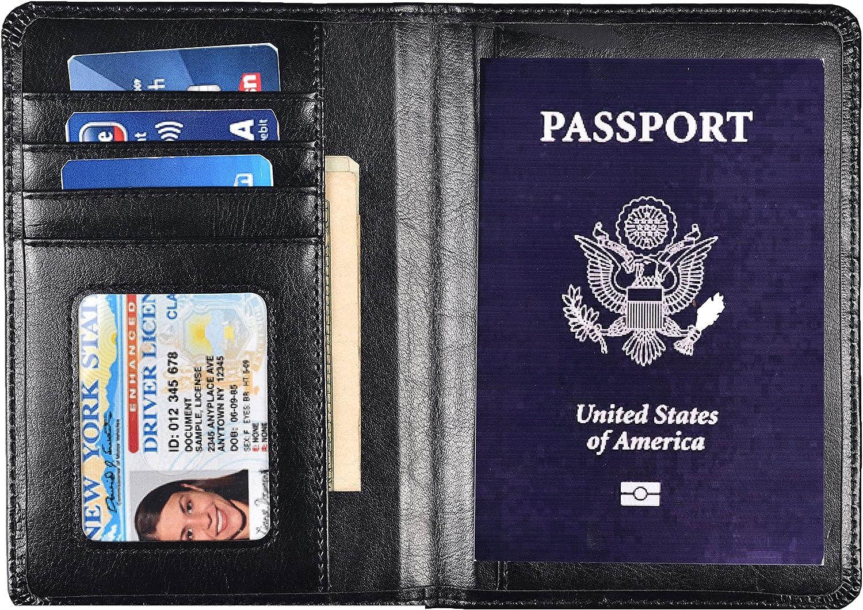 Hopsooken - Cartera para pasaporte negro New Black: Amazon.es: Equipaje
