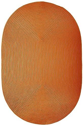 Boca Raton Polypropylene Braided Rug, 4-Feet by 6-Feet, Rust