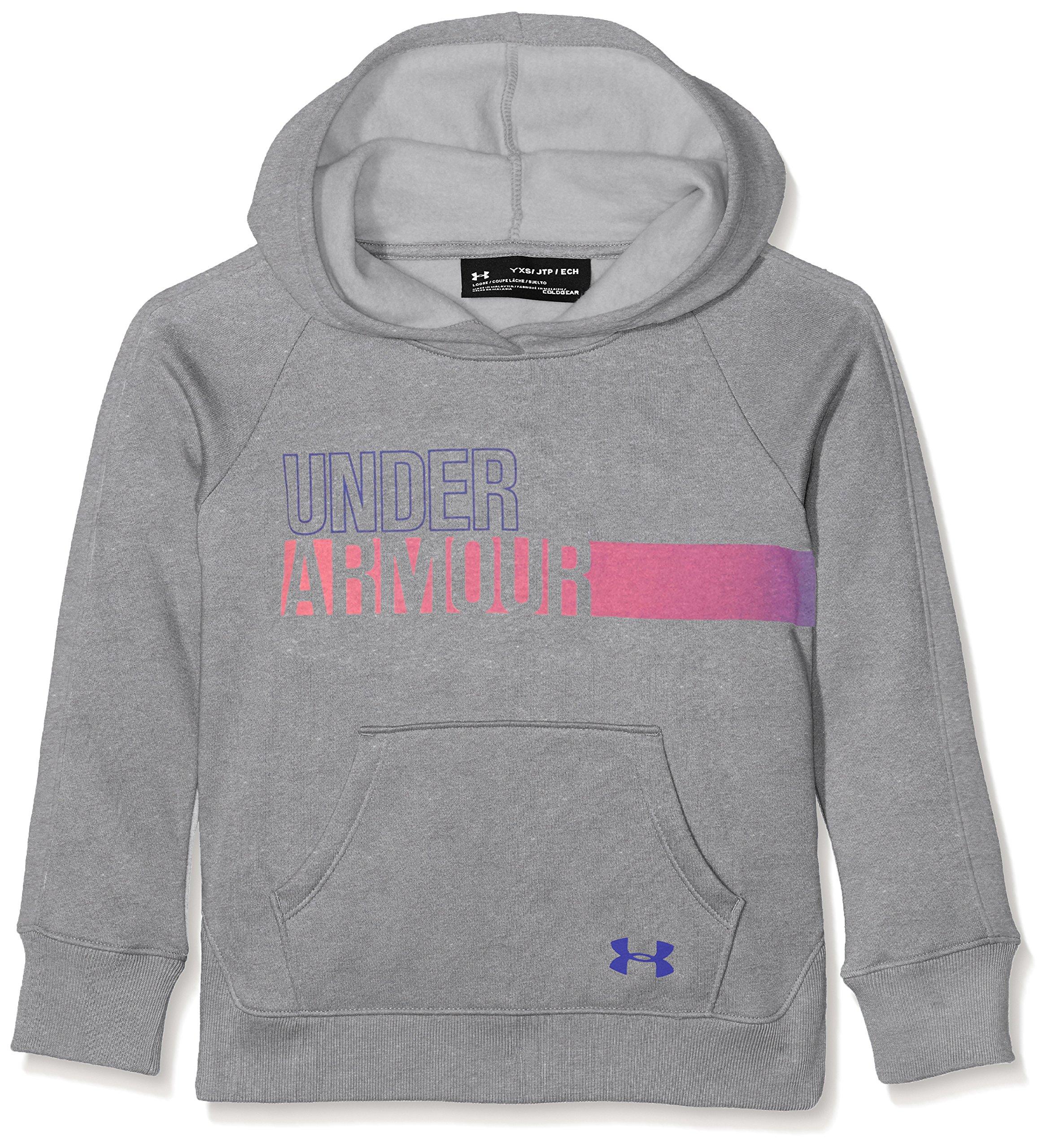 Under Armour Girls' Favorite Fleece Hoodie,Steel (035), Youth X-Large