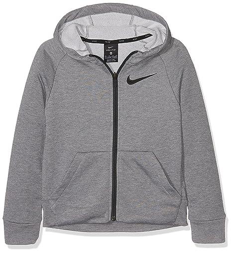 Nike B NK Dry FZ FLC Sudadera, niños, Gris / (Carbon Heather/