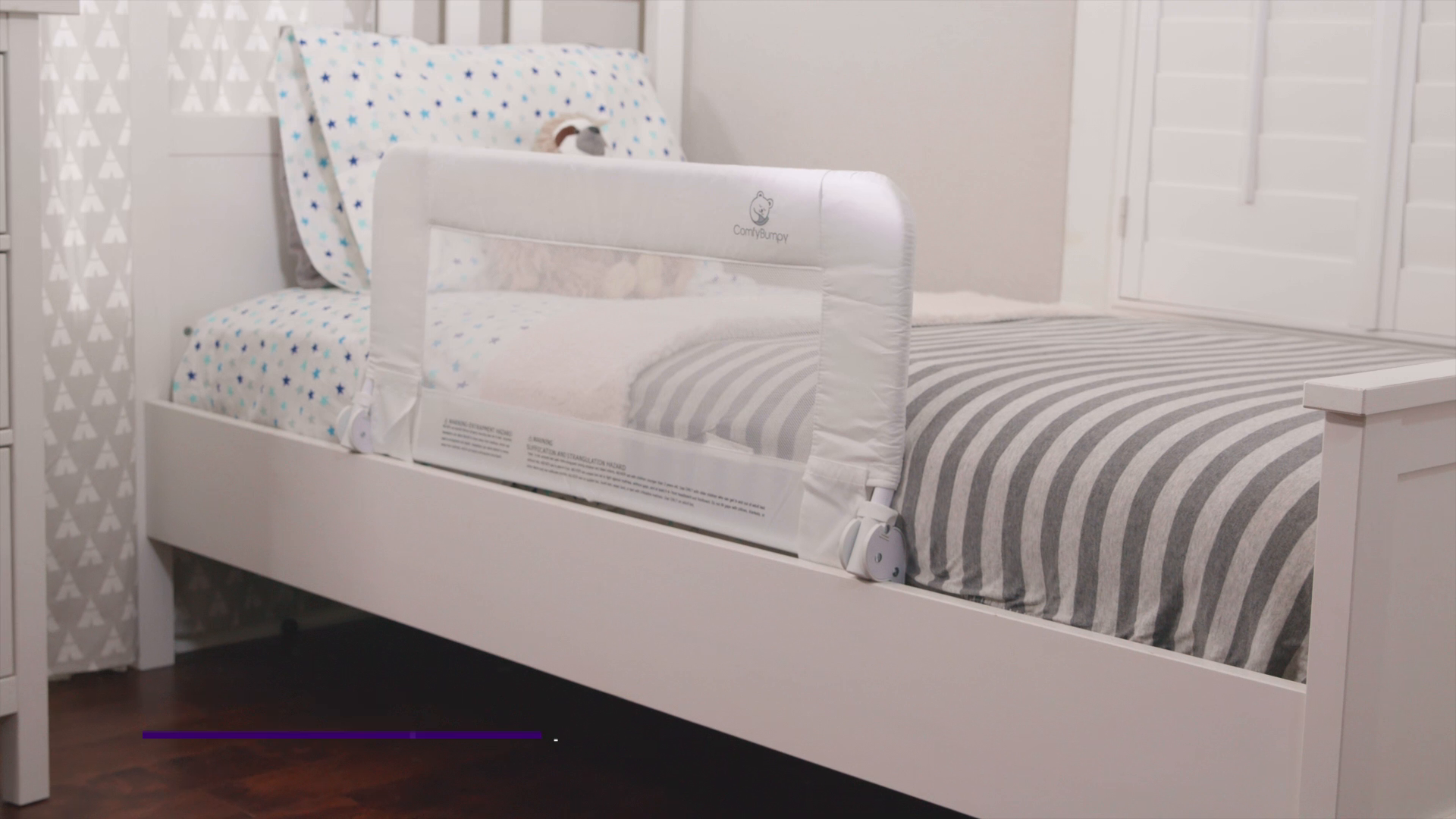 Toddler Bed Rail Guard for Convertible Crib, Kids Twin, Double, Full Size Queen & King 7