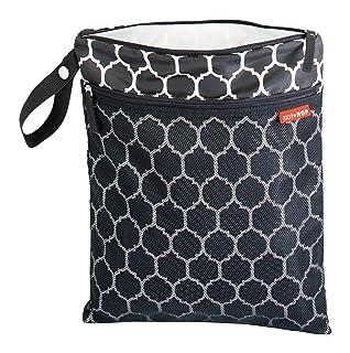 jirafa patr/ón haahaha reutilizable beb/é impermeable Zipper pa/ño pa/ñal bolsa para pa/ñales bolsas