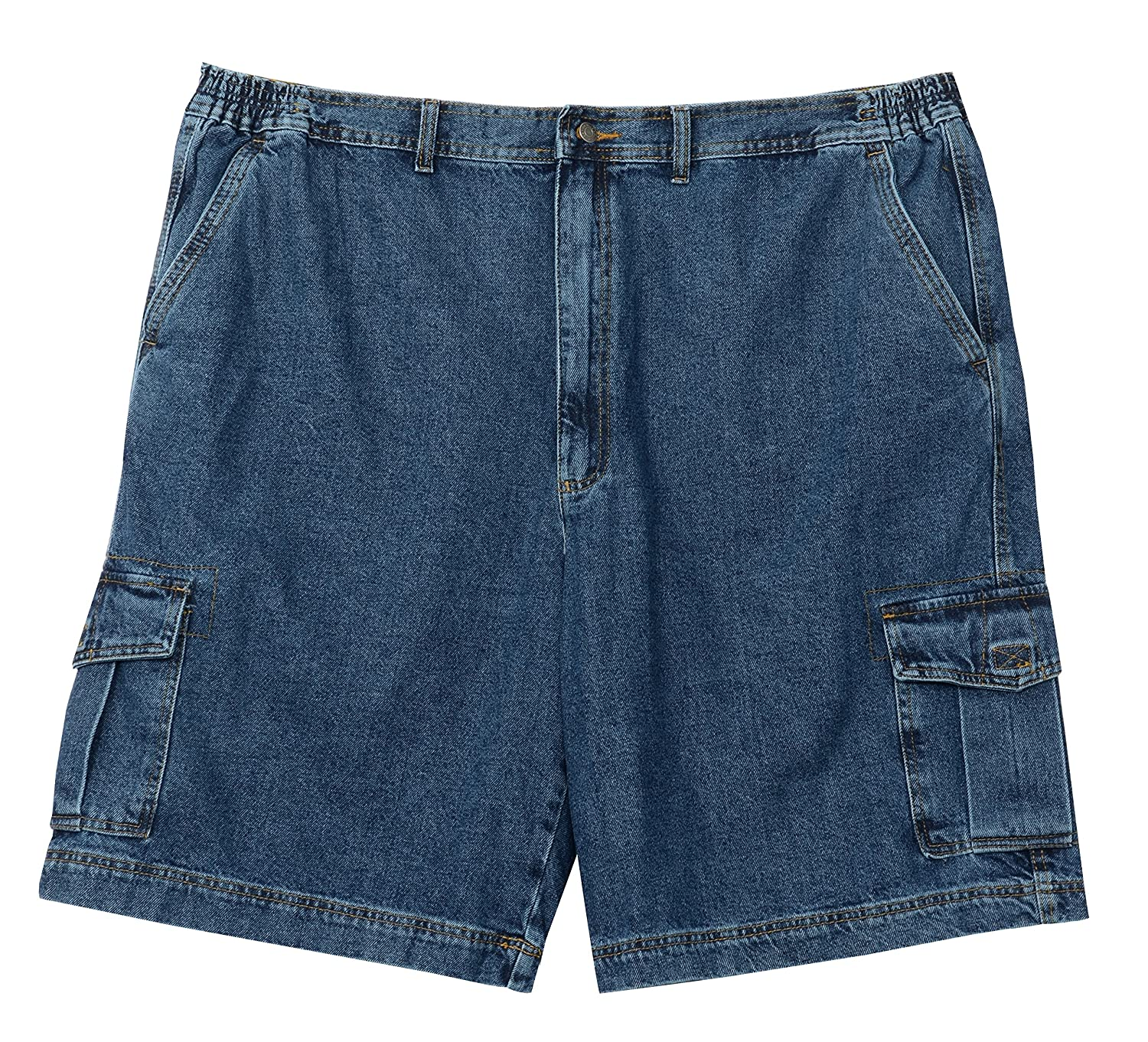Full Blue Big Mens Denim Cargo Short