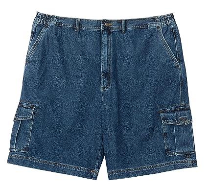 c0bb98698f Full Blue Big Mens Denim Cargo Short at Amazon Men's Clothing store: