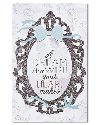 Amazon american greetings disney wedding card with glitter american greetings disney wedding card with glitter m4hsunfo