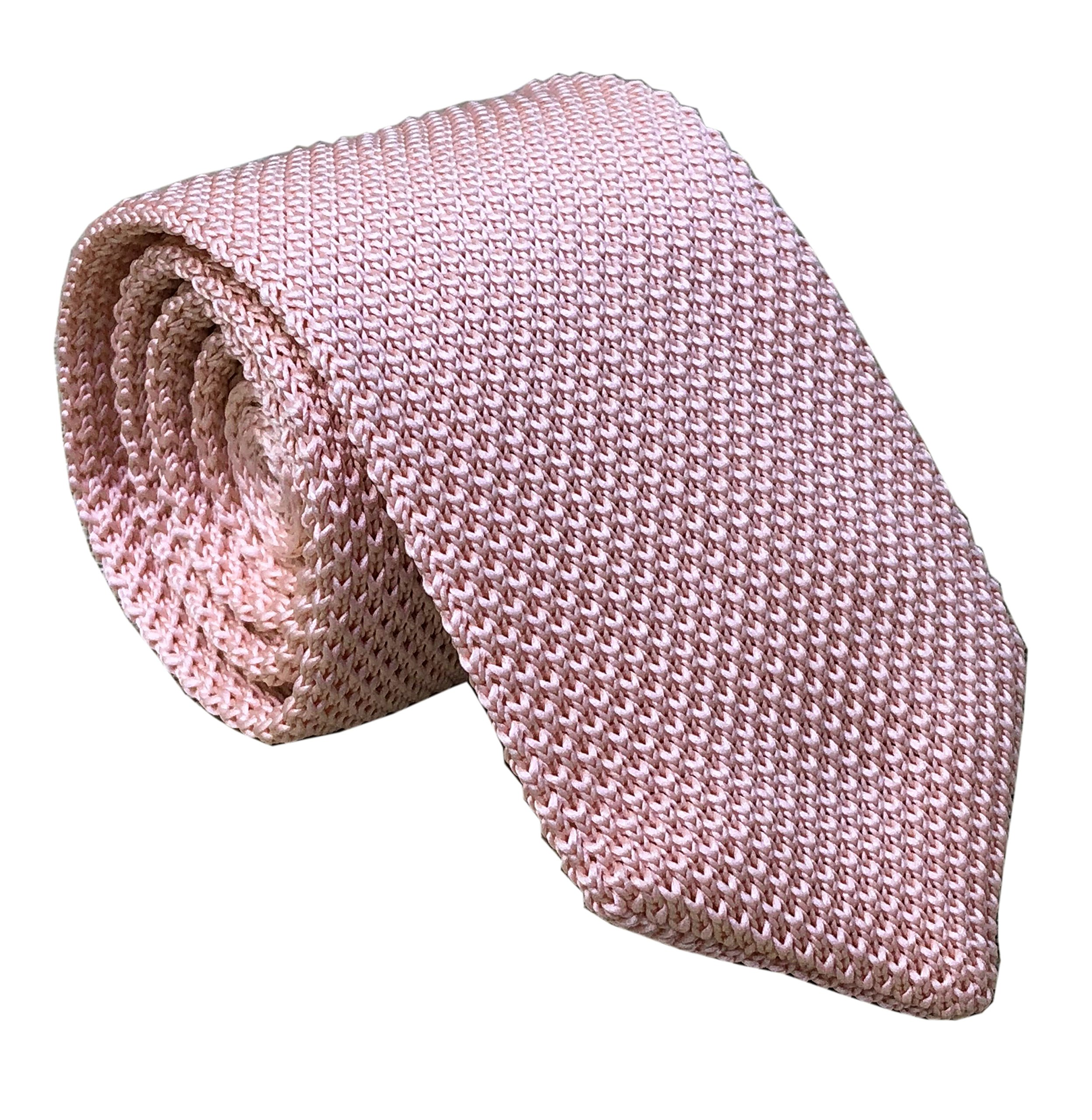 Summer Pink Tie Woven Casual Preppy Stylish Necktie for Tall and Big Men Boys