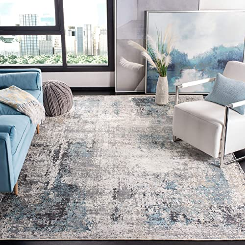 Safavieh Dream Collection DRM422F Grey and Blue 9 x 12 Area Rug