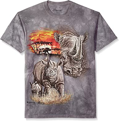 Rhino Face Adult Men/'s T-Shirt The Mountain Official Tee