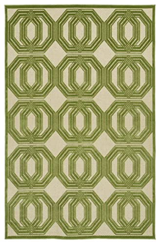 Kaleen Rugs Five Seasons Collection Green Rug 5 x 7 6