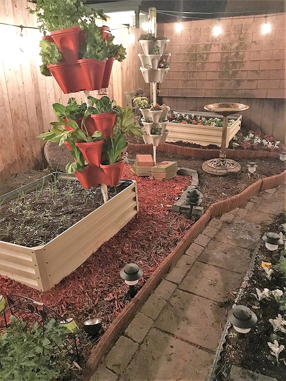 Amazon.com: Metal Raised Garden Bed Kit - Elevated Planter Box For ...