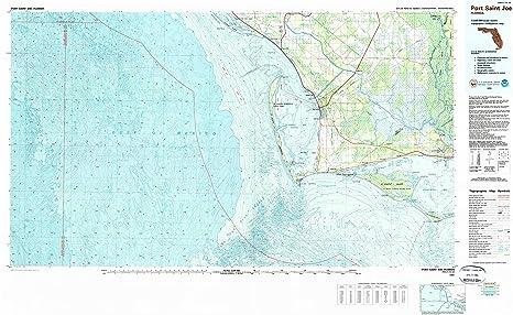 St Joe Florida Map.Amazon Com Yellowmaps Port Saint Joe Fl Topo Map 1 100000 Scale