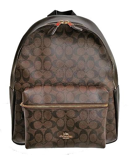 Amazon.com  Coach Womens PVC Signature Charlie Backpack Bag  Shoes f85fbefbb406e