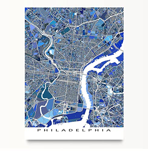 Amazon philadelphia map print pennsylvania usa city street philadelphia map print pennsylvania usa city street art poster gumiabroncs Image collections