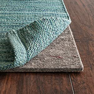 """RUGPADUSA, Anchor Grip, 6'x8', 1/4"""" Thick, Felt + Rubber, Premium Non-Slip Rug Pad, Available in 3 Thicknesses, Many Custom Sizes, Safe for All Floors"""