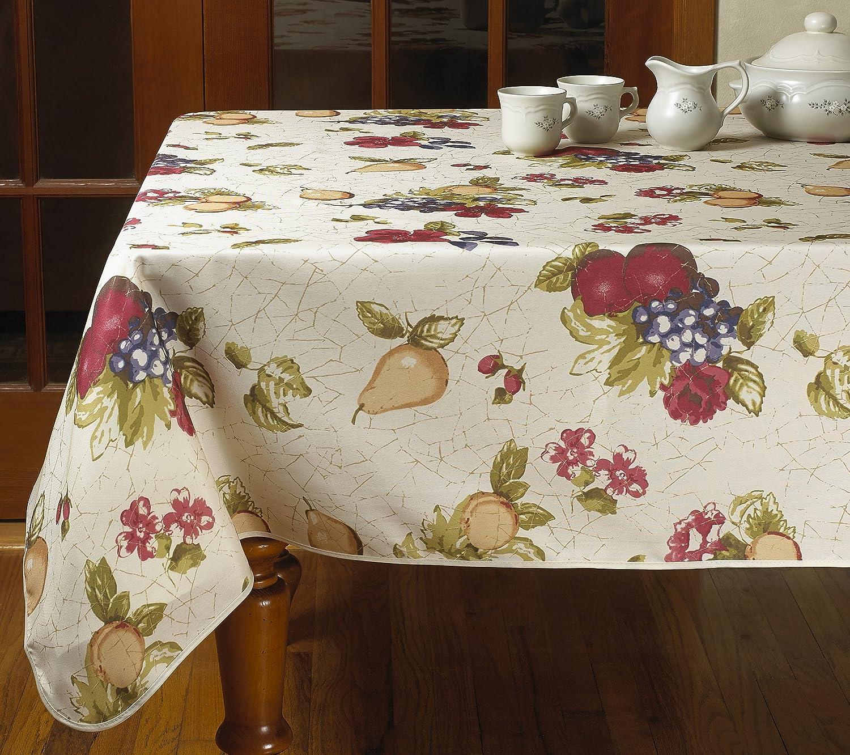 Violet Linen European Paradise Oblong/Rectangle Fruits Vintage Design Printed Tablecloth, 52