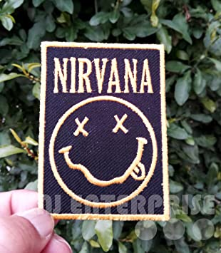 Nirvana Patch | Rock Band Music Smiley | High Quality | Iron