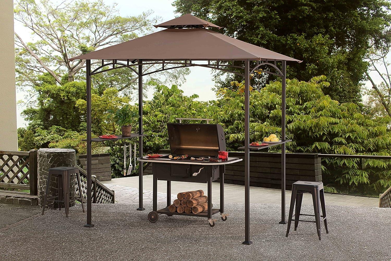 Amazon Com Sunjoy Grill Gazebo For Backyard Bbq Garden Outdoor
