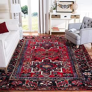 Amazon Com Safavieh Vintage Hamadan Collection Vth211a Oriental Traditional Persian Area Rug 9 X 12 Red Multi Furniture Decor