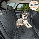 Dog seat covers for cars by YoGi Prime 2018 Model - Dog Car Hammock Style Waterproof Car Seat Covers for dogs, Pet Seat protectors for Trucks SUVs - Universal Fit - XL pet car seat covers best gift