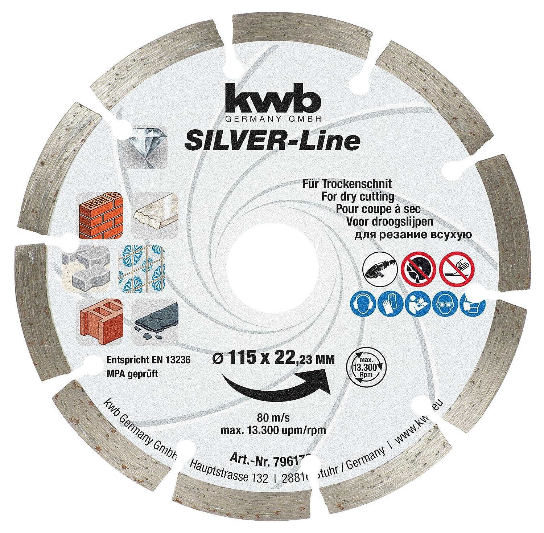 Kraftixx Diamant-Trennscheibe 796170 Durchmesser 115 mm f/ür Granit, Beton, Klinker und Mauerwerk