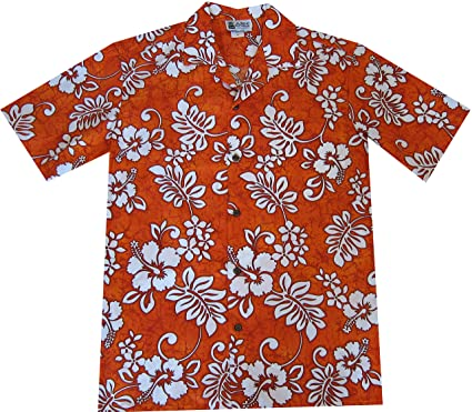 b4ad2f96 Hawaiian Islands Hibiscus Plumeria Aloha Shirt Uniform at Amazon Men's  Clothing store: