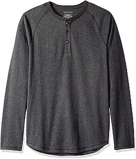 Camiseta ajustada Henley de manga larga para hombre Essentials