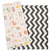 Baby Care Play Mat - Haute Collection (Large, Zig Zag - Black)