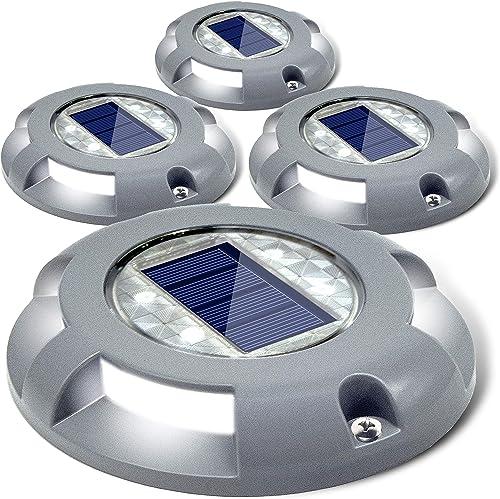 Siedinlar Solar Deck Lights Driveway